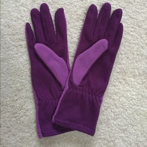 Lands End Thermacheck Fleece Gloves - True Purple